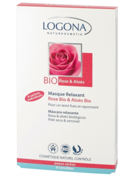 Masque relaxant rose bio-aloes bio 8x7,5mL Logona