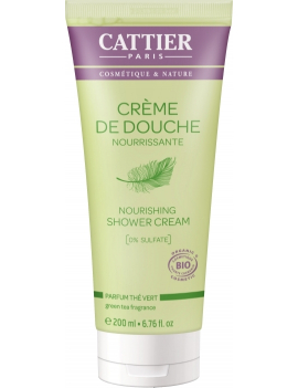 Crème de douche nourrissante parfum Thé Vert 200ml Cattier