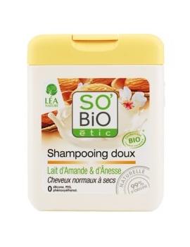 Shampoing doux, lait d'amande et d'ânesse 250mL SO'BiO étic