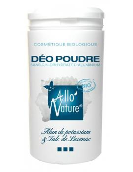 Déodorant poudre bio à l'alun 100gr Allo'Nature