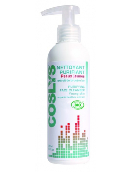 Nettoyant purifiant peaux jeunes 200mL Coslys